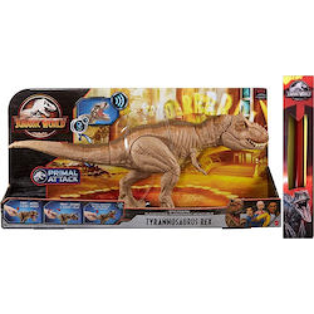 Παιχνιδολαμπάδα Jurassic World Epic Roarin Tyrannosaurus Rex GJT60 για 3+ Ετών Mattel