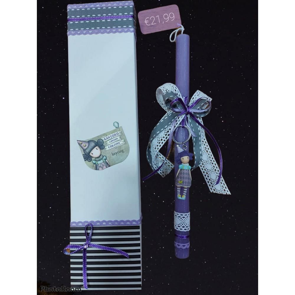 Λαμπάδα santoro με αρωματικό κερί σε κουτί δώρου