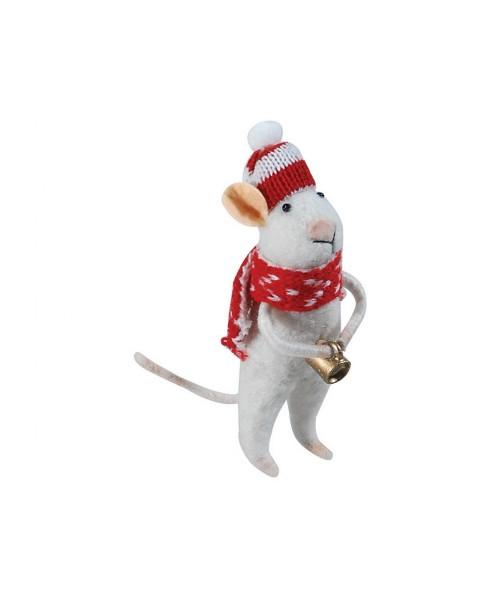 Πάνινο Κρεμαστό Χριστουγεννιάτικο Στολίδι Ποντίκι 3 x 4 x 13 (h)cm