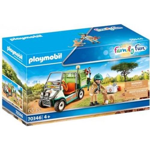 Playmobil Κτηνίατρος Με Όχημα Ζωολογικού Κήπου