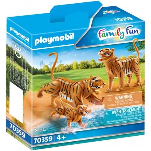 Playmobil Δύο Τίγρεις Με Το Μικρό Τους