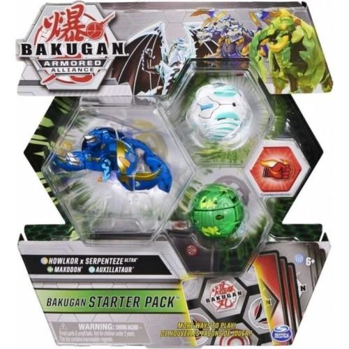 Spin Master Bakugan Armored Alliance: Bakugan Starter Pack S2 - Howlkor x Serpenteze Ultra + Maxodon + Auxillataur