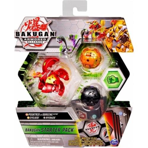 Spin Master Bakugan Armored Alliance: Bakugan Starter Pack S2 - Pegatrix x Goreene Ultra + Cycloid + Ryerazu