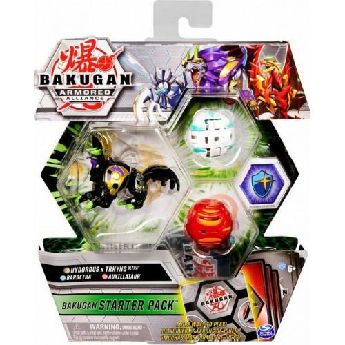 Spin Master Bakugan Armored Alliance: Bakugan Starter Pack S2 - Hydorous x Thryno Ultra + Barbetra + Auxillataur