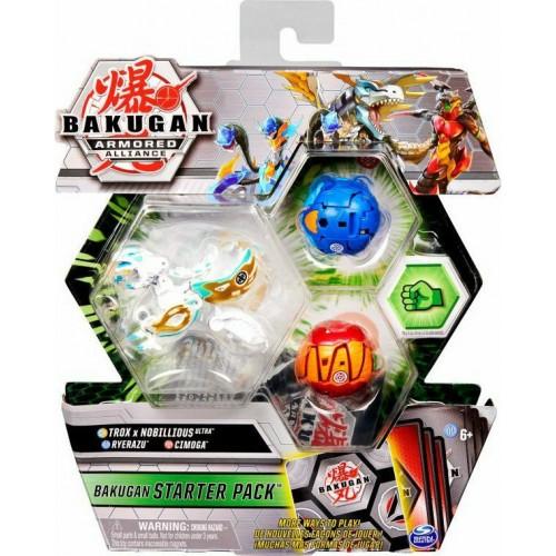 Spin Master Bakugan Armored Alliance: Bakugan Starter Pack S2 - Trox x Nobillious Ultra + Ryerazu + Cimoga