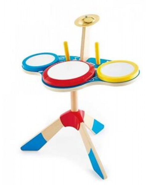 Hape Early Melodies Ξύλινα Drums Set Rock & Rhythm Band (E0613)
